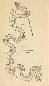 Map No. 12 shows Columbia and Greenville along the Mississippi River in James' River Guide (1871)