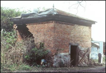 Smokehouse showing deterioration